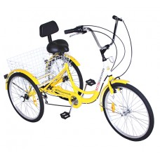 "7 Speed 24"" 3-Wheel Adult Tricycle Gearsmith"