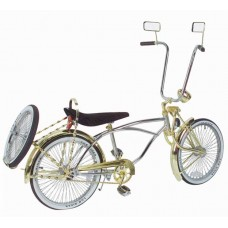 "20"" Lowrider Bike Chrome-Gold 535-3"
