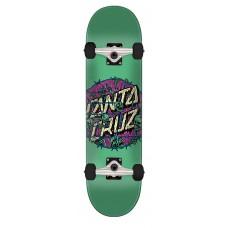 7.75in x 31.4in Abyss Dot Santa Cruz Skateboard Complete