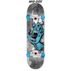 7.25in x 29.9in Screaming Hand Camo Santa Cruz Skateboard Complete