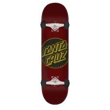 7.5in x 30.6in Classic Dot Santa Cruz Skateboard Complete