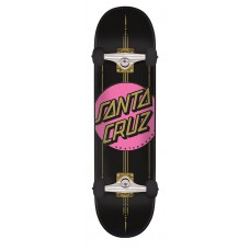 7.5in x 30.6in Other Dot Santa Cruz Skateboard Complete