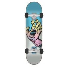 8.0in x 31.6in Pastel Screaming Hand Santa Cruz Skateboard Complete