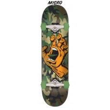 6.75in x 28.5in Screaming Hand Camo Santa Cruz Skateboard Complete