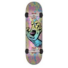 8.0in x 31.6in Screaming Hand Camo Santa Cruz Skateboard Complete