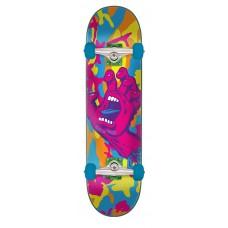 7.75in x 31.4in Screaming Hand Camo Santa Cruz Skateboard Complete