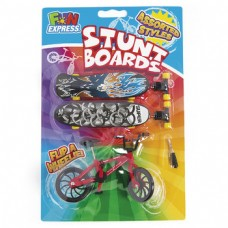 Finger Trick Bicycle And Skateboard Set