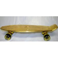 Gold Small Plastic Skateboard